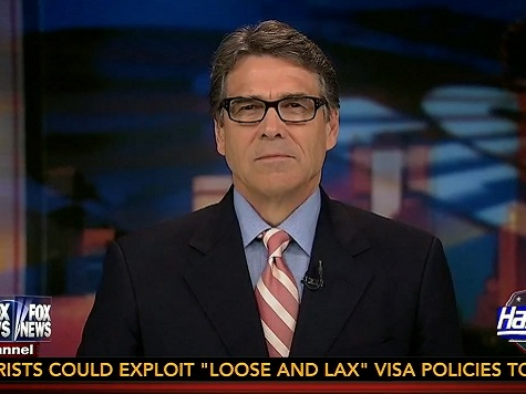 Perry: 'Substantially Concerned' Terrorists Could Cross Border