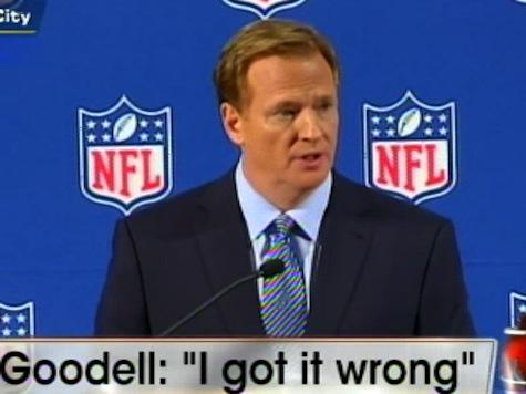 NFL Commish: 'I Got it Wrong'