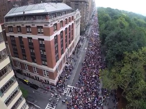 Drone Video Footage Shows Massive Crowd at Manhattan Climate March
