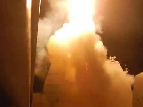 Watch: US Navy Video of Tomahawk Missile Launches to Combat ISIS