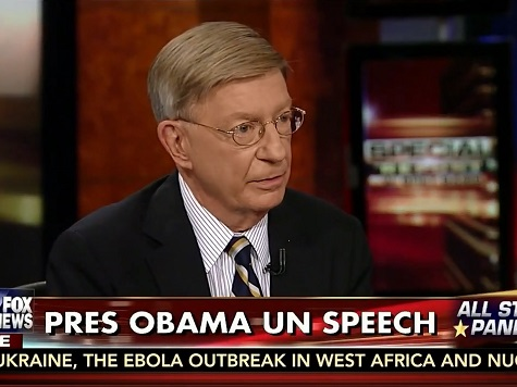 George Will: Obama Is Betting on 'Voices' While Putin Is Betting on 'Guns'