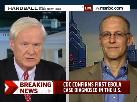 Chris Matthews on Ebola: 'Obama Said It Was Unlikely. It Has Happened. It's Here'