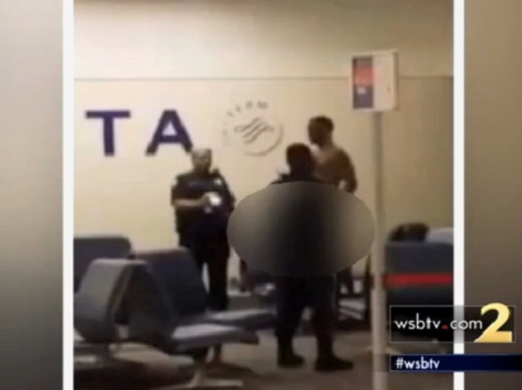 Watch: Naked Man Tased By Police at Atlanta Airport