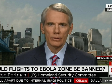 Portman Unclear on Flight Ban for Countries With Ebola Outbreaks