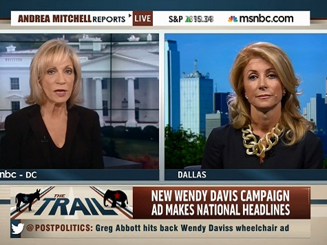 Andrea Mitchell Questions Wendy Davis for Attacking Greg Abbott's 'Supposed Disability'