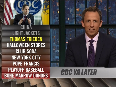 Seth Meyers: 'Can't Believe I'm Saying This About the CDC, But Could Roger Goodell Take Over?'