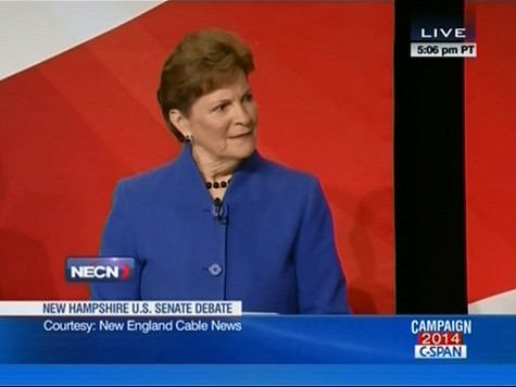 Audience Laughs at Shaheen for Ducking Question on Obama