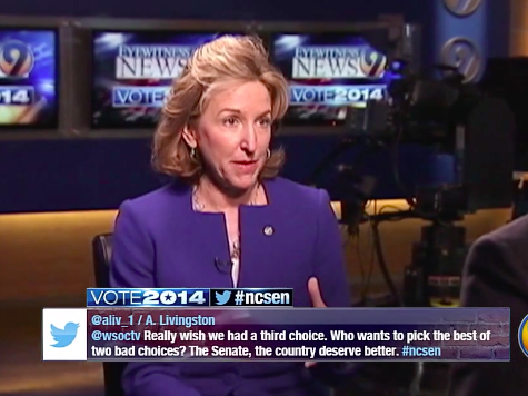 Hagan Won't Say Whether She Approves of Obama's Job Performance