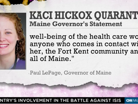 CNN Legal Analyst: Maine Nurse Hickox Setting a Bad Example, 'Will Lose in Court'