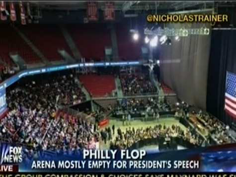 Obama Speaks to Nearly Empty Venue in Pennsylvania
