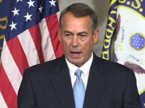 Boehner: Obama Is Playing with Matches and He Will Get Burned