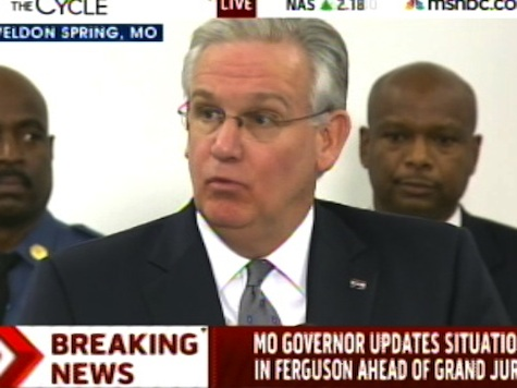 MO Gov Nixon: Violence Will Not be Tolerated in Ferguson
