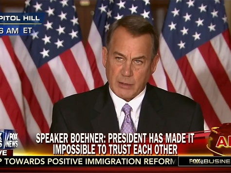 Boehner: The House Will in Fact Act