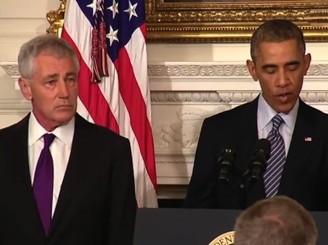 Watch: Hagel Formally Announces His Resignation as Defense Secretary