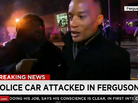 CNN Reporter Badgered Off Ferguson Live Shot By Protesters