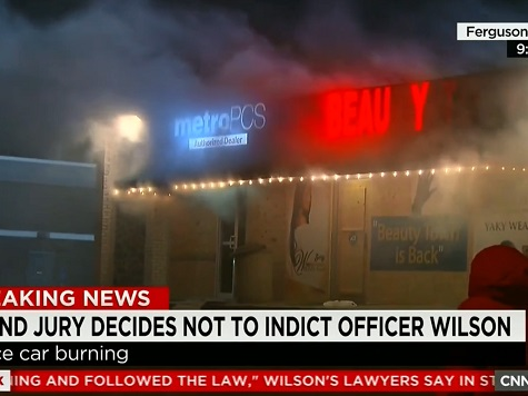 CNN: No Police in Sight As Ferguson Store Burns