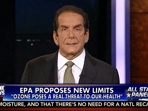 Krauthammer: Ozone Regs 'Usual Arrogant Liberal Argument'