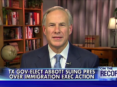 TX Gov-Elect: Amnesty Lawsuit Against Obama 'Any Day Now'