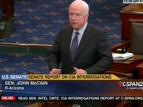McCain 'Commends' Feinstein's 'Diligence' on CIA Torture Report