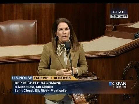 Watch: Michele Bachmann Gives Farewell Address on House Floor