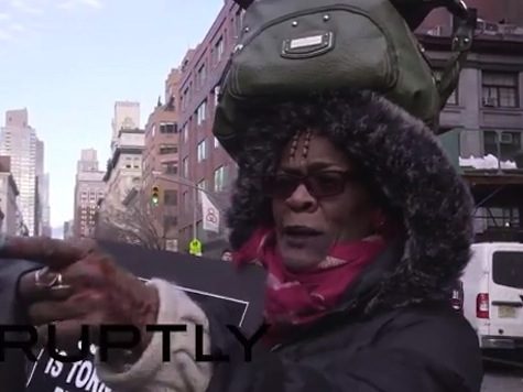 Protester at Million March NYC: 'Kill the Killers, Shoot Them Back a Body for a Body!'