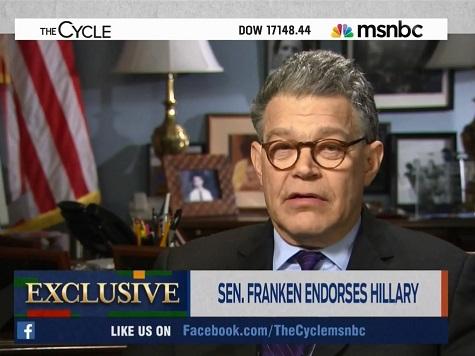 Franken: 'I'm Ready for Hillary'