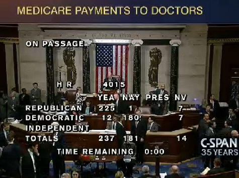 US House Approves TX Congressman's Fix to Medicare Reimbursement for Doctors