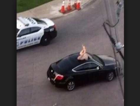 Naked Texas Man Jumps Through Female Driver's Sun Roof, Allegedly Assaults Her