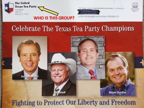 Tea Party Groups across Texas Warn of 'Fake' Tea Party Mailers