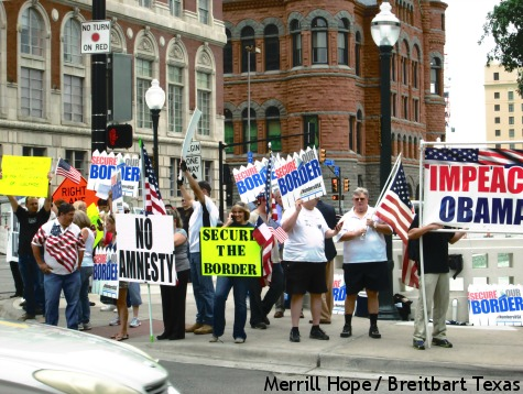 Peaceful Protest Outside Home of Dallas Judge Hell Bent On Housing Illegal Minors