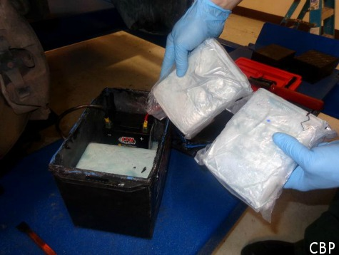Mexican National Hides $166k Worth of 'China White' Heroin in Car Battery