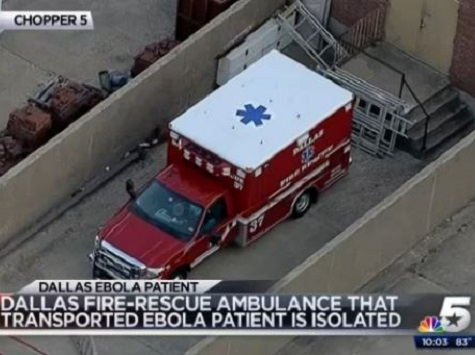 Dallas Ambulance Crew Quarantined for Ebola Precaution