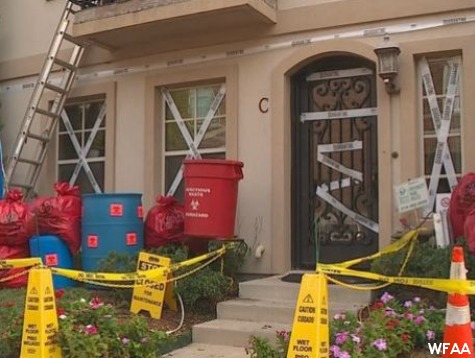 Outrage After Dallas Man Decorates House Like Ebola HAZMAT Scene