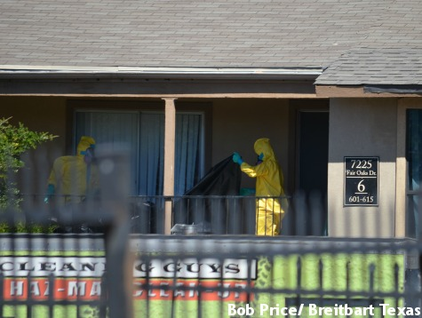 Ebola Apartment Being Cleaned, Quarantined Individuals Remain Inside