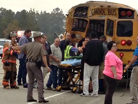 BREAKING NEWS: East Texas School Bus Slammed by 18-Wheeler, Students Injured