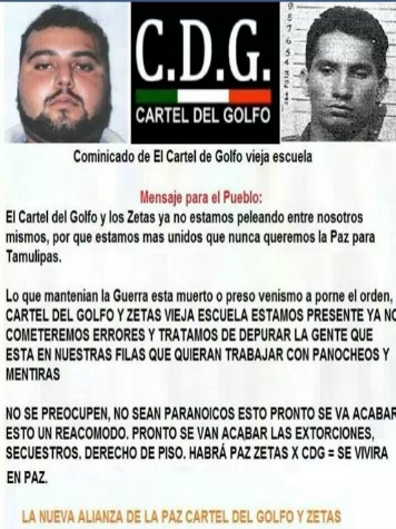 EXCLUSIVE: Zetas and Gulf Cartel Appear to Seek Truce in Leaked Communique