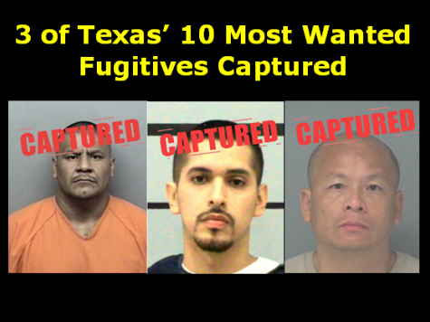 Texas Top 10 Most Wanted Down by Three After Recent Arrests