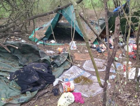 Border Patrol Destroys Inhumane Illegal Alien Camp On Texas Border