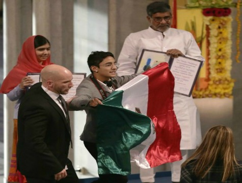 Mexican Protester Crashes Nobel Peace Prize Ceremony