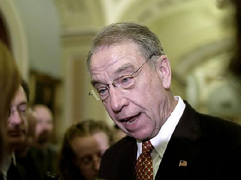Senator Grassley Working on Alternative To Senator Reid's Gun Control