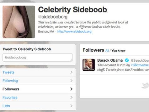 Obama Twitter Account Follows 'Celebrity Sideboob'