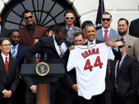 Red Sox Visit White House: No Political No-Shows Now That Obama's President