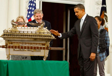 President Reveals Ark of the Covenant, Warns Sequester Would Slash Research