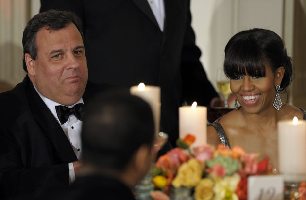 Post-Oscar: Michelle O, Chris Christie Break Bread at the Gov. Ball