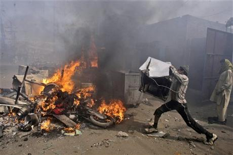 Pakistani Mob Kills Woman and Grandchildren over 'Blasphemous' Facebook Post