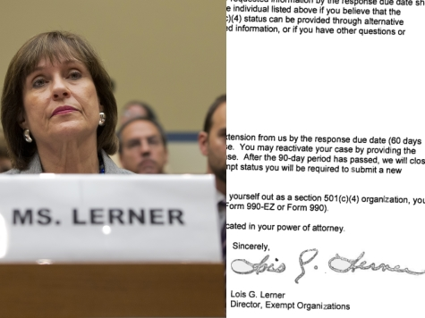 IRS's Lerner Signed Tea Party Letters