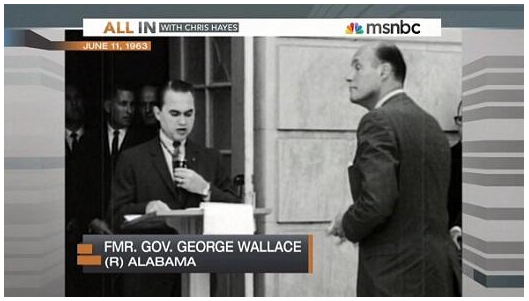 All In: Chris Hayes Identifies Infamous Racist Governor George Wallace As Republican