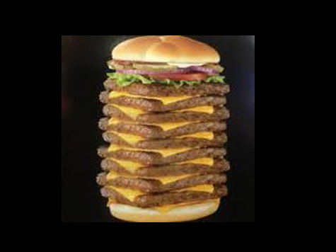 Canadian Wendy's Retires Giant Burger, 9 Patties, 3000 Calories, 200 Grams Of Fat