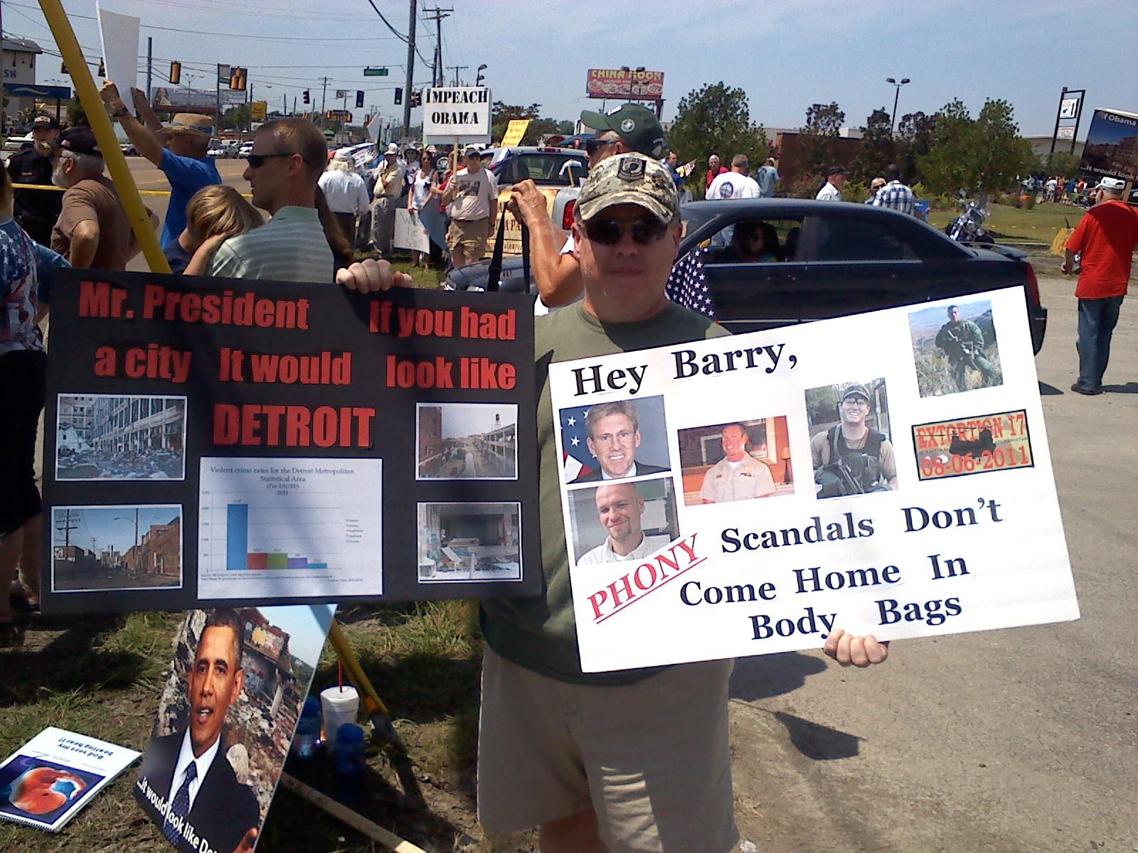 Tea Party Protest Forced to move 7 Miles Away From Obama Speech in Chattanooga