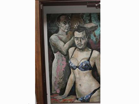 Artist Who Painted Putin in Underwear Flees Russia